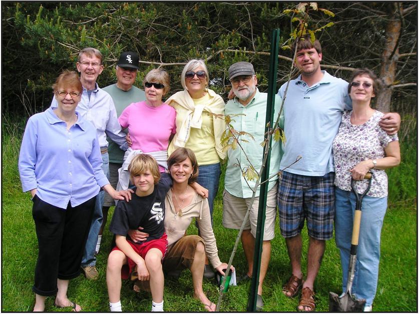memorial DrBosman family planting