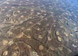 fracking wells landscape